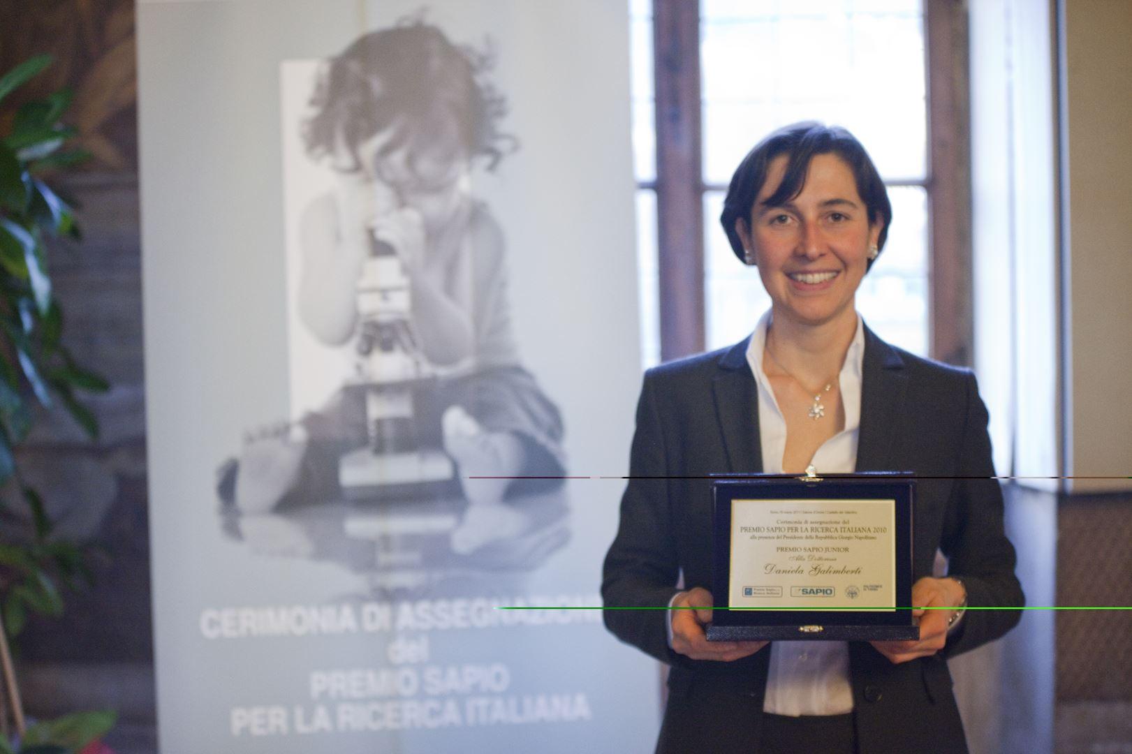 Premio SAPIO Dr. Daniela Galimberti