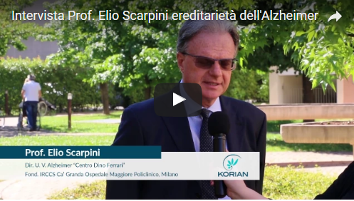 """Korian intervista Prof. Elio Scarpini su """"ereditarietà dell'Alzheimer"""""""