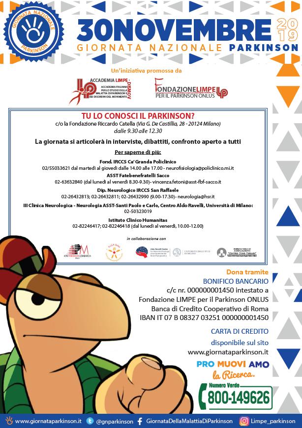Locandina Evento Parkinson Milano_30 Novembre